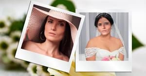 Como você ficaria vestida de noiva?