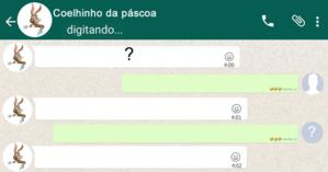 Como foi sua conversa com o coelhinho da páscoa no Whatsapp?