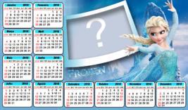 Calendario 2018 do Frozen. Qual Foto você vai por nele?