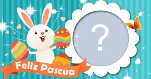 ¡Coloca tu foto preferida en este hermoso marco de Pascua!