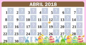 Calendário Abril com 30 amigos. Faça o seu!