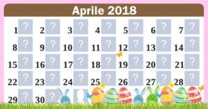 Calendario di aprile con 30 amici. Fai il tuo!