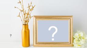 Coloque sua foto preferida neste lindo porta retrato!