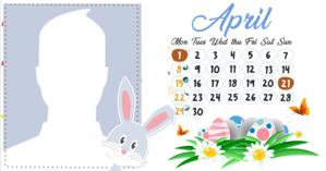 April Calendar with your profile picture. Make yours!
