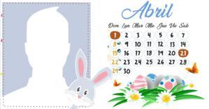 Calendario Abril con su foto del perfil. ¡Haga el suyo!