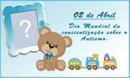 Moldura do Dia Mundial da Conscientização sobre o Autismo