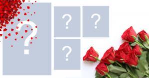 Moldura de rosas vermelhas para 4 fotos!