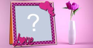 Linda Moldura com vaso de Flor. Coloque sua Foto!