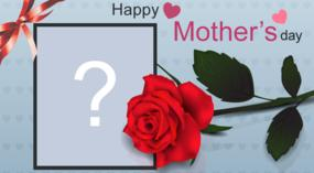 Happy Mother's Day frame. Choose a photo of her and do her homage!