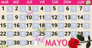 Calendario Mayo con 30 amigos. ¡Haga el suyo!