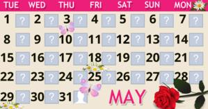 May Calendar with 30 friends. Make yours!