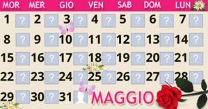 Maggio Calendario con 30 amici. Fai il tuo!