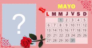 Calendario Mayo con su foto más admirada de 2018. Haga el suyo!