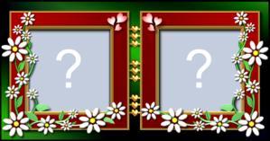 Moldura de Florzinha com duas fotos. Quais você colocaria?