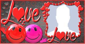 Moldura LOVE com Foto de perfil. Faça a sua!