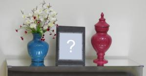 Photo montage with vases and picture frame! Add your photo