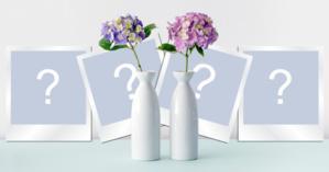 Linda moldura com 4 fotos e vasos de flores! Adicione suas fotos!