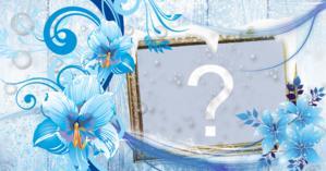 Moldura com tema de inverno, escolha uma foto do seu álbum e faça a sua!
