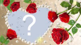¡hermoso marco con rosas para que usted coloque sus fotos! haga la suya!