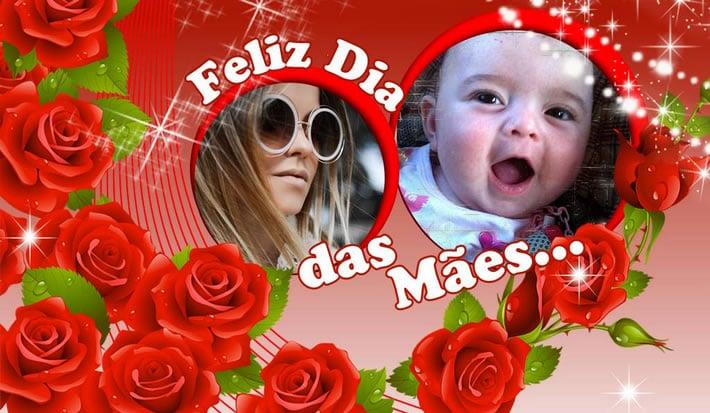 Moldura Dia das Mães para você por duas Fotos do seu Albúm do Facebook!