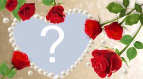 Coloque sua foto preferida nesta linda moldura de rosas!