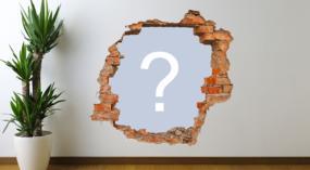 Coloque sua foto favorita neste buraco na parede!