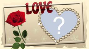 Lindo Frame romãntico para dia dos namorados. Escolha uma foto do seu amor e faça a sua!