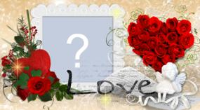 Moldura romântica para dia dos namorados. Faça a sua!