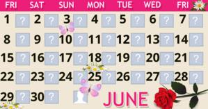 June Calendar with 30 friends. Make yours!