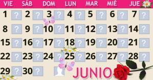Calendario Junio con 30 amigos. ¡Haga el suyo!