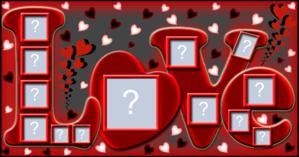 Escreva a palavra LOVE com 11 Fotos do seu Albúm!