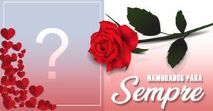 Linda moldura romântica para você colocar uma foto sua e de seu amor juntos!