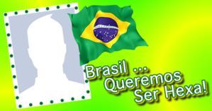 Campanha Brasil queremos ser Hexa. Participe se você tbm é um Torcedor de Coração!