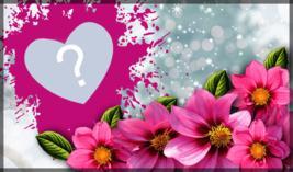 Linda Moldura com Flores para você por sua Foto!