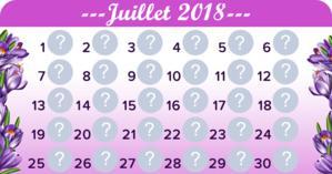 Créer un calendrier pour le mois de Juillet avec 30 amis!