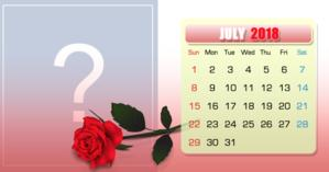 July calendar with your most liked photo of the month. Make yours!