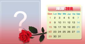 Calendario Julio con su foto más amada del mes. ¡Haga el suyo!