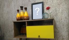 Coloque sua Foto em cima do Rack Amarelo!