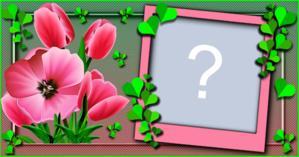Moldura com Flores rosa. Qual Foto você colocaria?