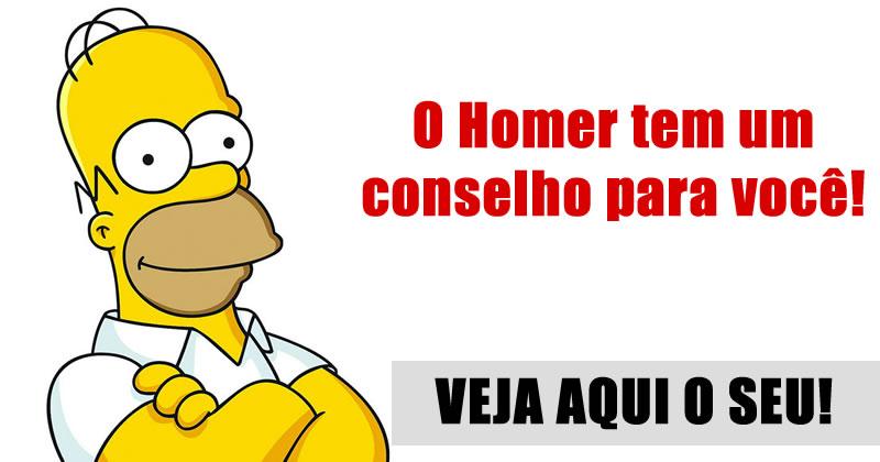 Qual conselho o Homer Simpson tem pra você? Veja aqui!