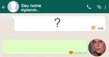 Como foi sua conversa com a Nazaré Tedesco no WhatsApp? Faça o teste e descubra!