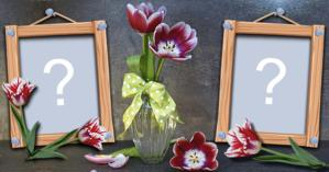 Beautiful Frame with Flower Vase for you to add two Photos!