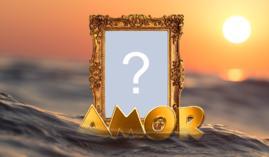 Lindo Puerta Retrato de AMOR sobre el Agua. ¡Añada una Foto suya!