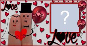 Moldura LOVE para noivado e casamento. Coloque uma foto!