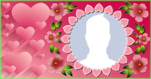 Como ficaria sua Foto de Perfil nesta Linda Moldura com Florzinhas?