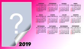 Calendario 2019 Rosa Portugues.Molduras Calendarios