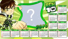 Moldura Calendario 2019 do Ben 10. Adicione uma Foto!