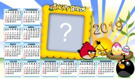 Calendario 2019 Angy Birds. Faça com uma Foto!