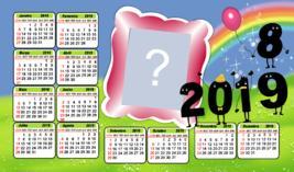 Calendario 2019 de Feliz Ano Novo. Faça o seu com uma Foto!