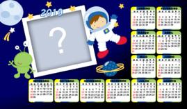 Moldura Calendario 2019 de Astronalta. Faça com a Foto do seu Filho!